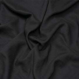 Tissu crêpe proviscose noir x 10 cm