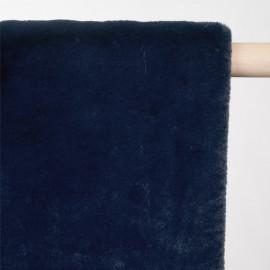 Tissu fausse fourrure bleu pétrole - pretty mercerie - mercerie en ligne