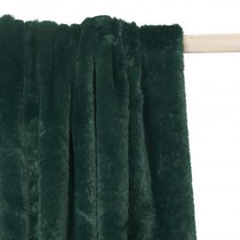 Tissu fausse fourrure vert canard - pretty mercerie - mercerie en ligne