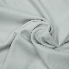 Tissu drap de laine gris glacier x 10cm