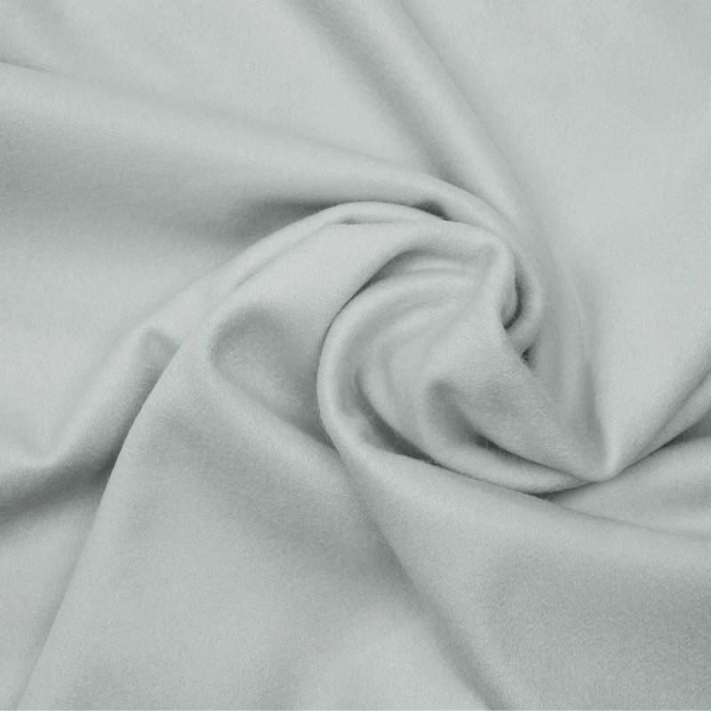 Tissu drap de laine gris glacier - pretty mercerie - mercerie en ligne