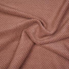 Tissu lainage cedar wood effet tricoté - pretty mercerie - mercerie en ligne