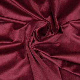 Tissu velours rouge garnet x 10 cm