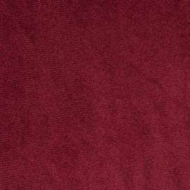 Tissu velours rouge garnet - pretty mercerie - mercerie en ligne
