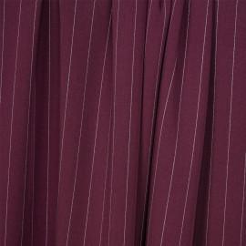 Tissu tencel sergé rhododendron à motif rayures pointillés - pretty mercerie - mercerie en ligne