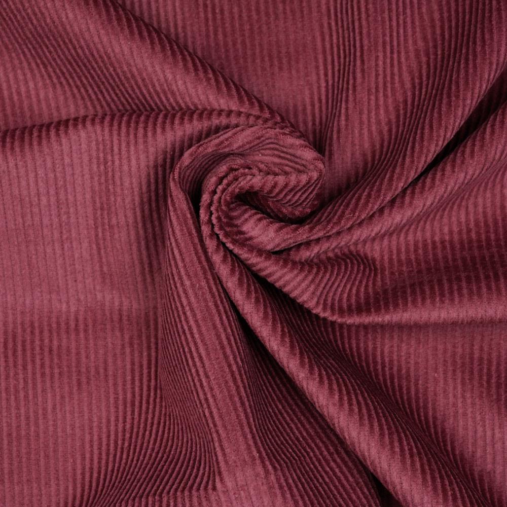 Tissu velours côtelé coton ruby wine - mercerie en ligne - pretty mercerie