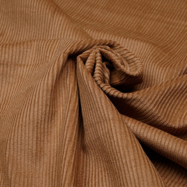 Tissu velours côtelé coton cashew x 10 cm