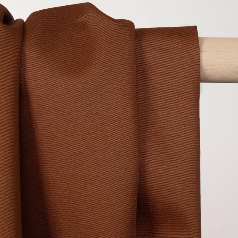 Tissu coton sergé pecan brown - pretty mercerie - mercerie en ligne