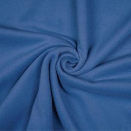 Tissu laine foulée bleu parisien x 10cm