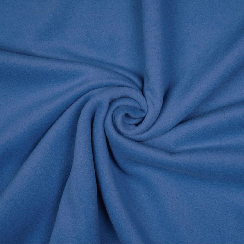 Tissu laine foulée bleu parisien - pretty mercerie - mercerie en ligne
