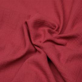 tissu double gaze de coton deep claret x 10 cm