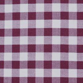 Tissu coton vichy tissé rhododendron et blanc - pretty mercerie - mercerie en ligne