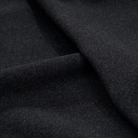 Tissu drap de laine gris foncé chiné x 10cm