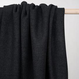 Tissu drap de laine gris foncé chiné - pretty mercerie - mercerie en ligne