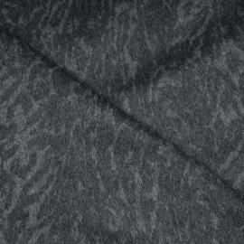 Tissu lainage double face gris à motif tigré x 10cm