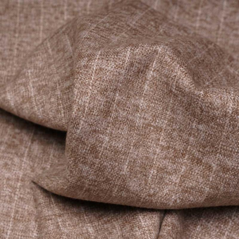 Tissu Flanelle de coton macaron chiné à rayures blanc cassé - pretty mercerie - mercerie en ligne