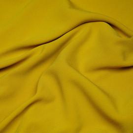 Tissu crêpe triacétate moutarde x 10 CM