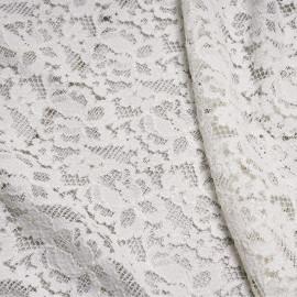 Tissu dentelle blanc cassé motif bohème flower x 10cm