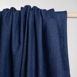 Tissu denim bio-stone washed bleu estate x 10 CM