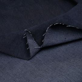 Tissu denim bio-stone washed bleu graphite - pretty mercerie - mercerie en ligne