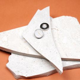 Bouton métal et silicone effet marbré 15 mm - pretty mercerie - mercerie en ligne