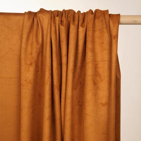 Tissu suédine fauve - pretty mercerie - mercerie en ligne