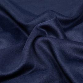 Tissu lainage bleu peacoat x 10cm