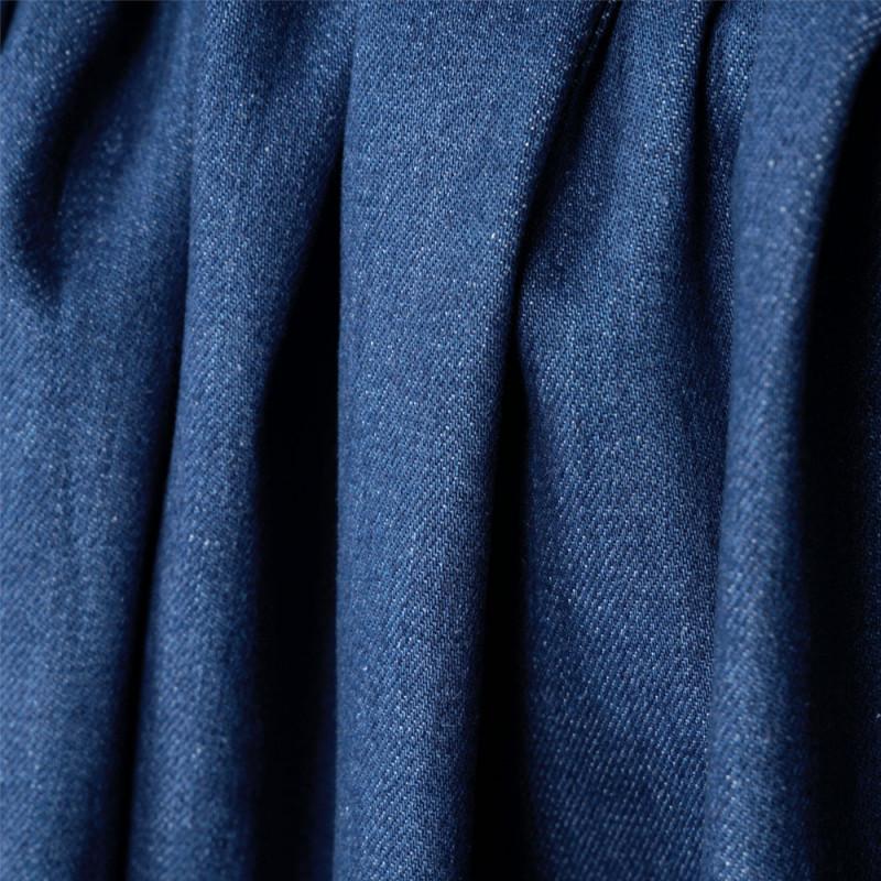 Tissu denim bio-stone washed true navy - pretty mercerie - mercerie en ligne