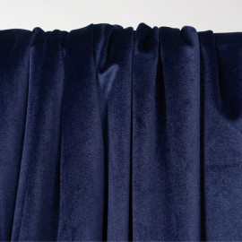 Tissu velours ras bleu - pretty mercerie - mercerie en ligne