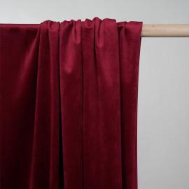 Tissu velours rumba red - pretty mercerie - mercerie en ligne