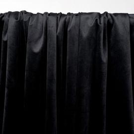 Tissu velours ras noir - pretty mercerie - mercerie en ligne