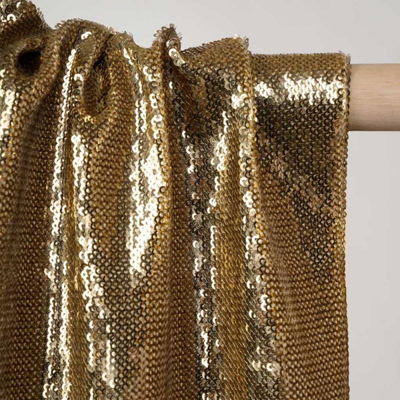 Tissu sequin doré - pretty mercerie - mercerie en ligne