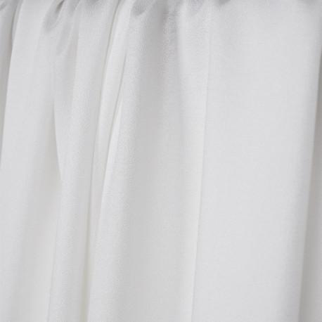 Tissu crêpe proviscose blanc - pretty mercerie - mercerie en ligne