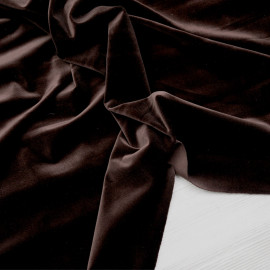 Tissu velours ras marron grain de café x 10cm