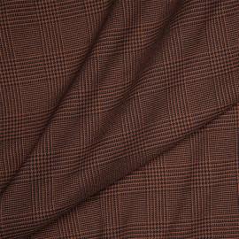Tissu Prince de Galles noisette et noir x 10 cm