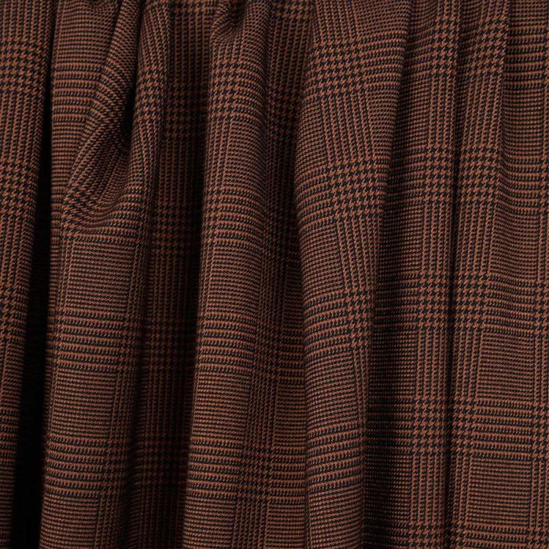 Tissu Prince de Galles noisette et noir - pretty mercerie - mercerie en ligne