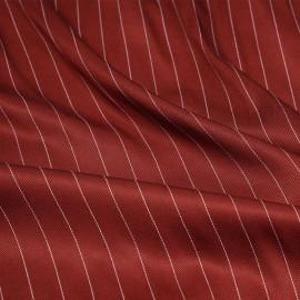 Tissu tencel sergé cinnabar à motif rayures pointillés - pretty mercerie - mercerie en ligne