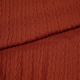 tissu maille torsadée bossa nova x 10cm