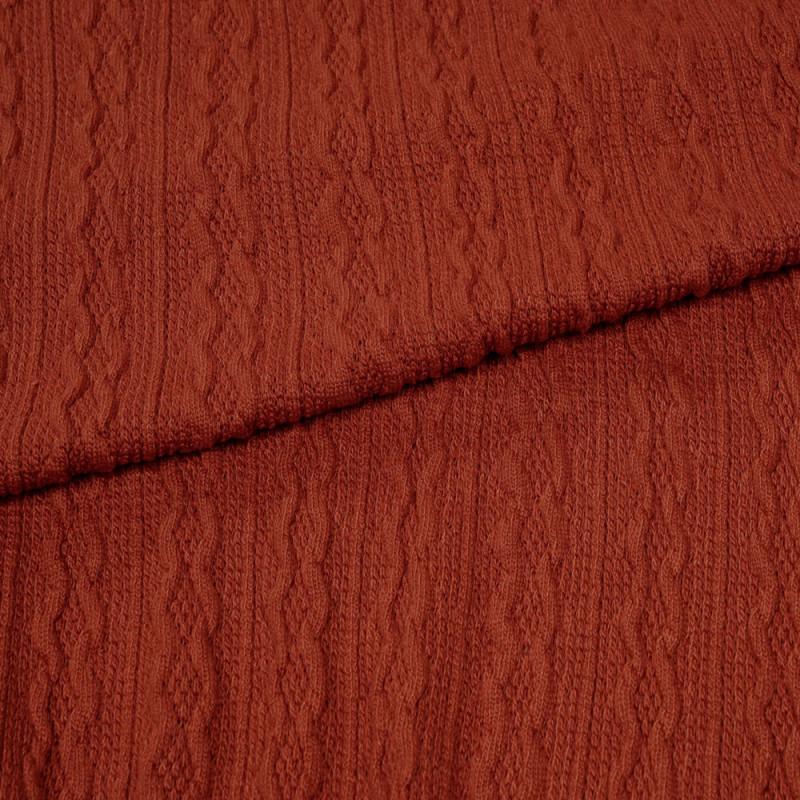 tissu maille torsadée bossa nova - pretty mercerie - mercerie en ligne