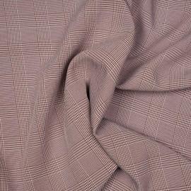 Tissu Prince de Galles sequoia et blanc x 10 cm