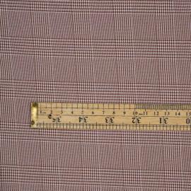 Tissu Prince de Galles sequoia et blanc - pretty mercerie - mercerie en ligne