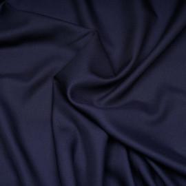 Tissu tencel et laine sergé bleu peacoat - pretty mercerie-mercerie en ligne