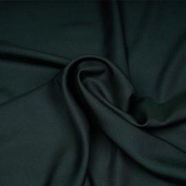 Tissu tencel et laine sergé vert et bleu nuit x 10cm