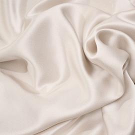Tissu triacétate et viscose white swan satiné et fils argent tissés x 10cm