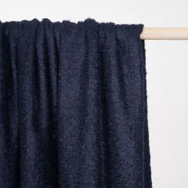 Tissu maille mohair bouclé bleu éclipse - pretty mercerie - mercerie en ligne