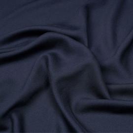 Tissu crêpe proviscose bleu éclipse x 10 cm