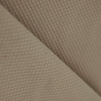 Tissu piqué de coton beige