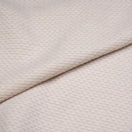 Tissu lainage white swan et fils dorés tissés x 10cm