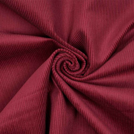 Tissu velours milleraie coton rumba red x 10 cm