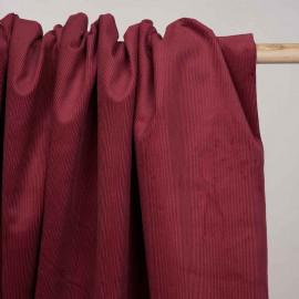 Tissu velours côtelé coton rumba red  - pretty mercerie - mercerie en ligne